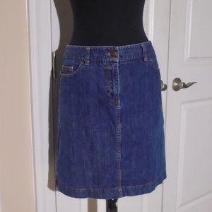 BODEN 5-Pocket Medium Wash Denim Short Skirt 8US
